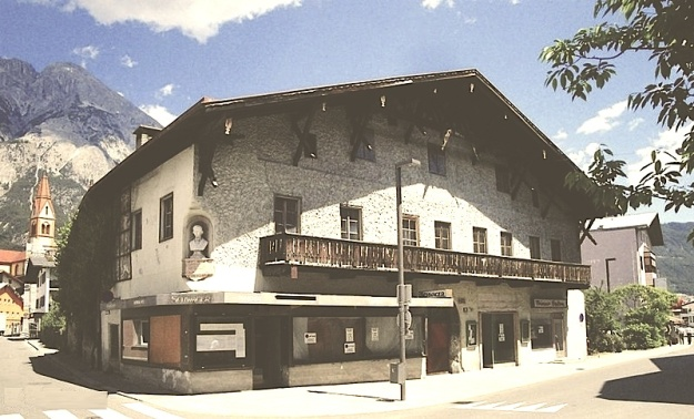Telfs, Untermarkt strasse, Tirol, Austria